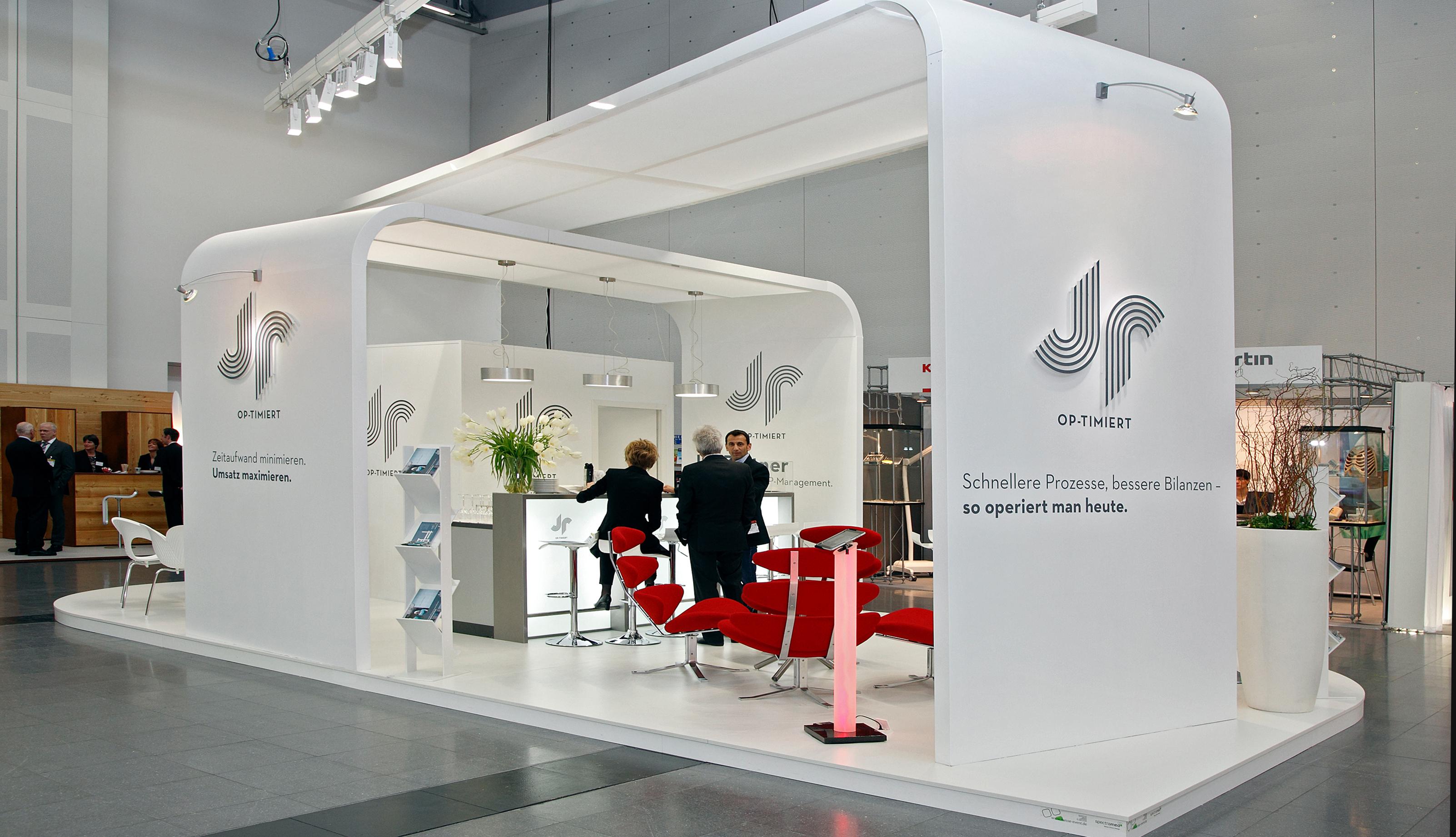 Stand Design For Exhibition : Inselstand herzmedizin freiburg